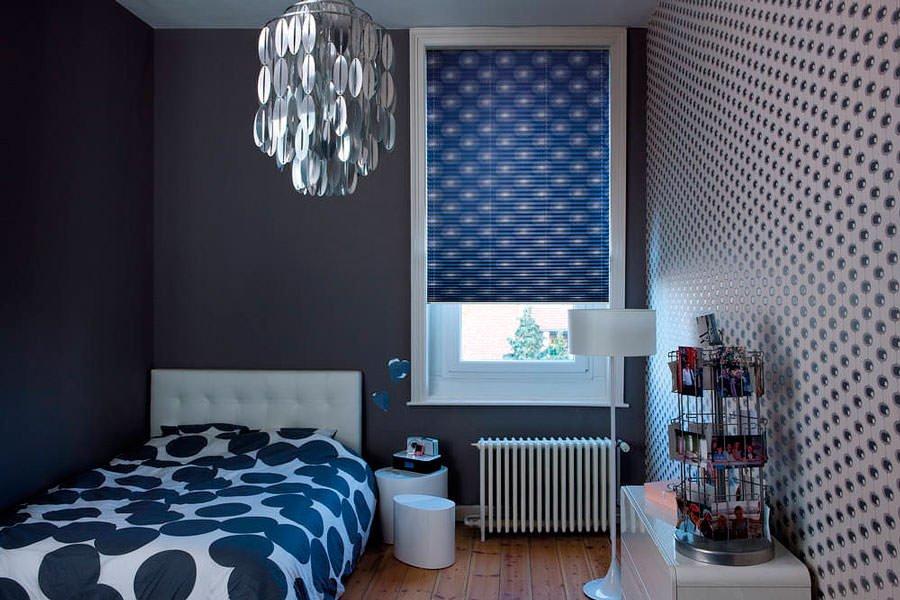 шторы плиссе для спальной комнаты