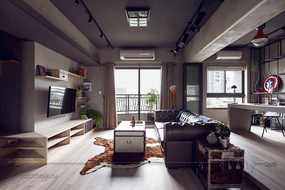 Студийная квартира-лофт
