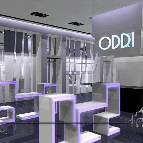3d интерьер бутика одежды