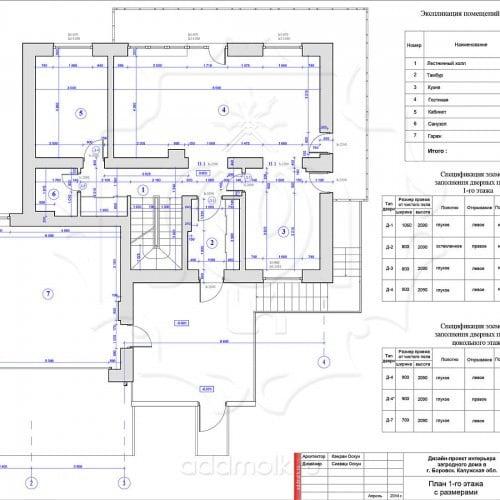 дизайн проект 2х-этажного загородного дома