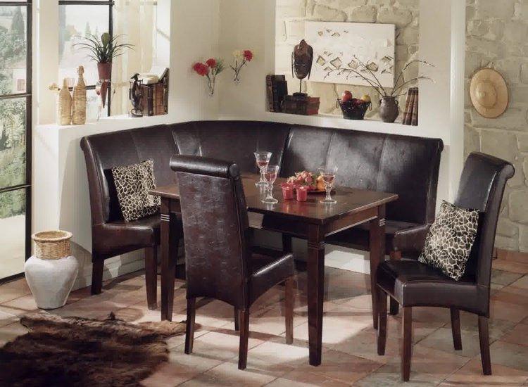классический кухонный угловой диван