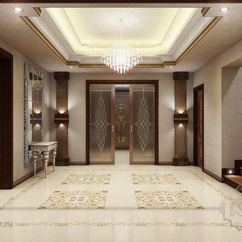 3d интерьер дома в стиле арт-деко